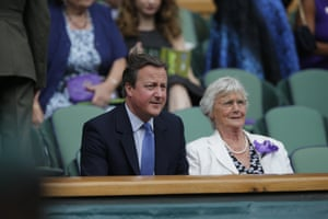 David Cameron and his mother, Mary