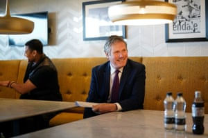 Labour Party leader Sir Keir Starmer during a visit to the Leeds United Foundation at Elland Road in Leeds. Picture date: Wednesday March 31, 2021.