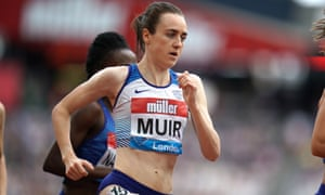 Laura Muir eases to victory in the 1500m final during the anniversary games at the London Stadium.