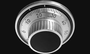 A numerical combination safe dial. Should scientific discussions be kept secret?