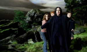 From left:  Emma Watson, Rupert Grint, Alan Rickman and Daniel Radcliffe in Harry Potter And The Prisoner Of Azkaban, 2004.