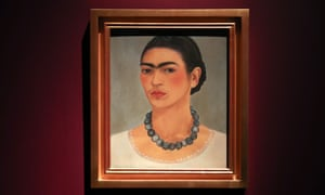 Self-portrait with necklace by Frida Kahlo, 1933.