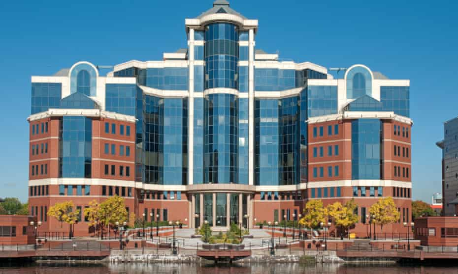 Victoria Harbour building at Salford Quays, owned by Peel Holdings.