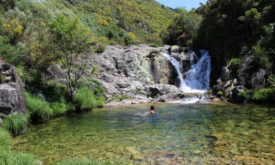 wild swimming near Soajo, north-east Portugal.