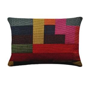 Multi-colour assembly rectangle cushion