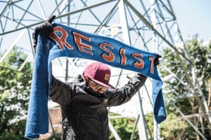 Resist Scarf  from the book Protest Knits by Geraldine Warner