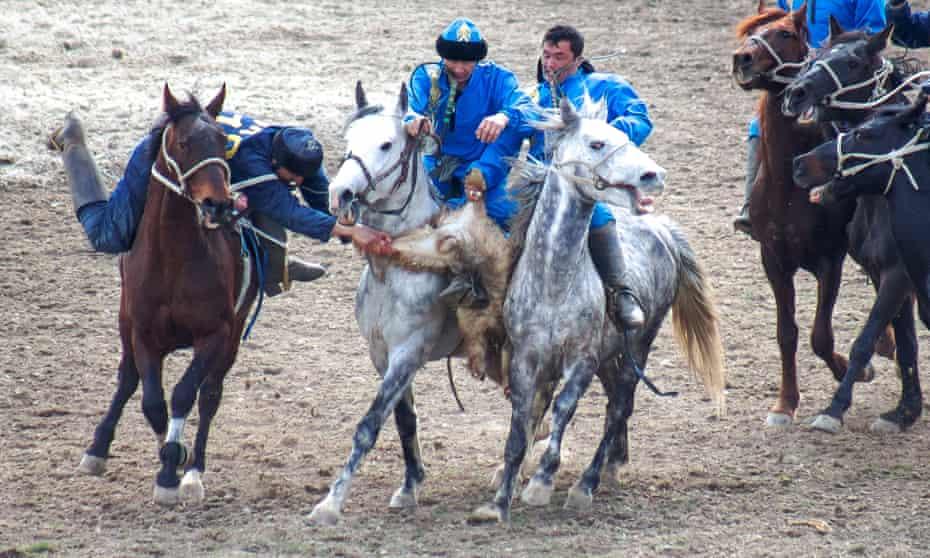 a kokpar match in Shymkent, Kazakhstan, March 22, 2017