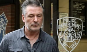 Alec Baldwin outside the 6th precinct of the NYPD in Manhattan, New York City