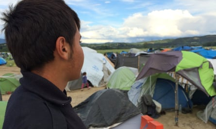 Mohammed, 16, from Idlib in Syria, one of the refugee children at the Idomeni camp in Greece in May, just before it was cleared.