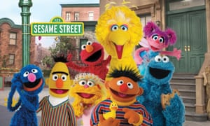 Some of the Sesame Street residents. The two previous films have focused on Big Bird and Elmo.