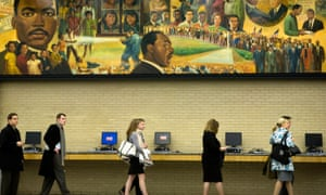 At the Martin Luther King Library in Washington, voters wait in line to vote in the 2008 presidential election.