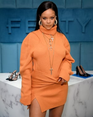 Rihanna promotes her fashion brand Fendy.