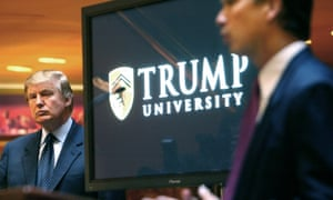 Donald Trump at a news conference in New York announcing the establishment of Trump University on 23 May 2005.