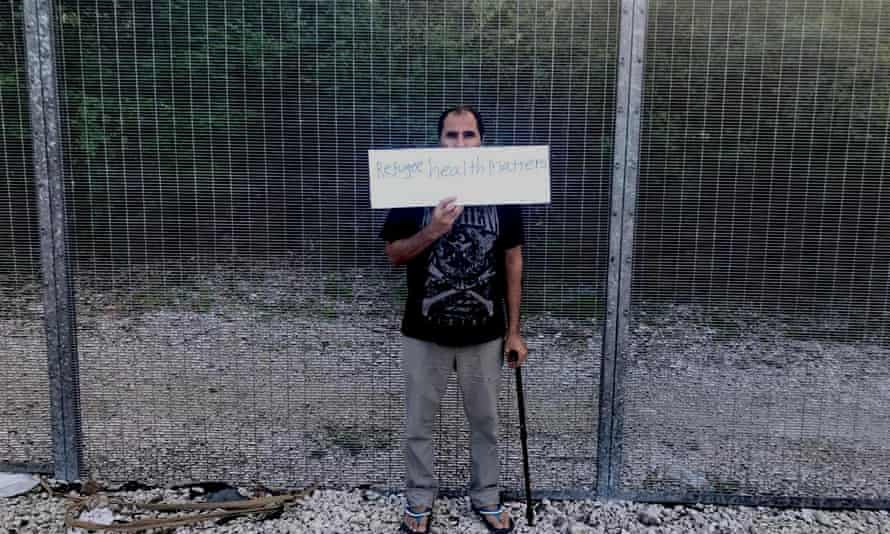 Nima (not his real name) a refugee held on Nauru, whose medical transfer to Australia has been approved – but he remains stuck on the island.