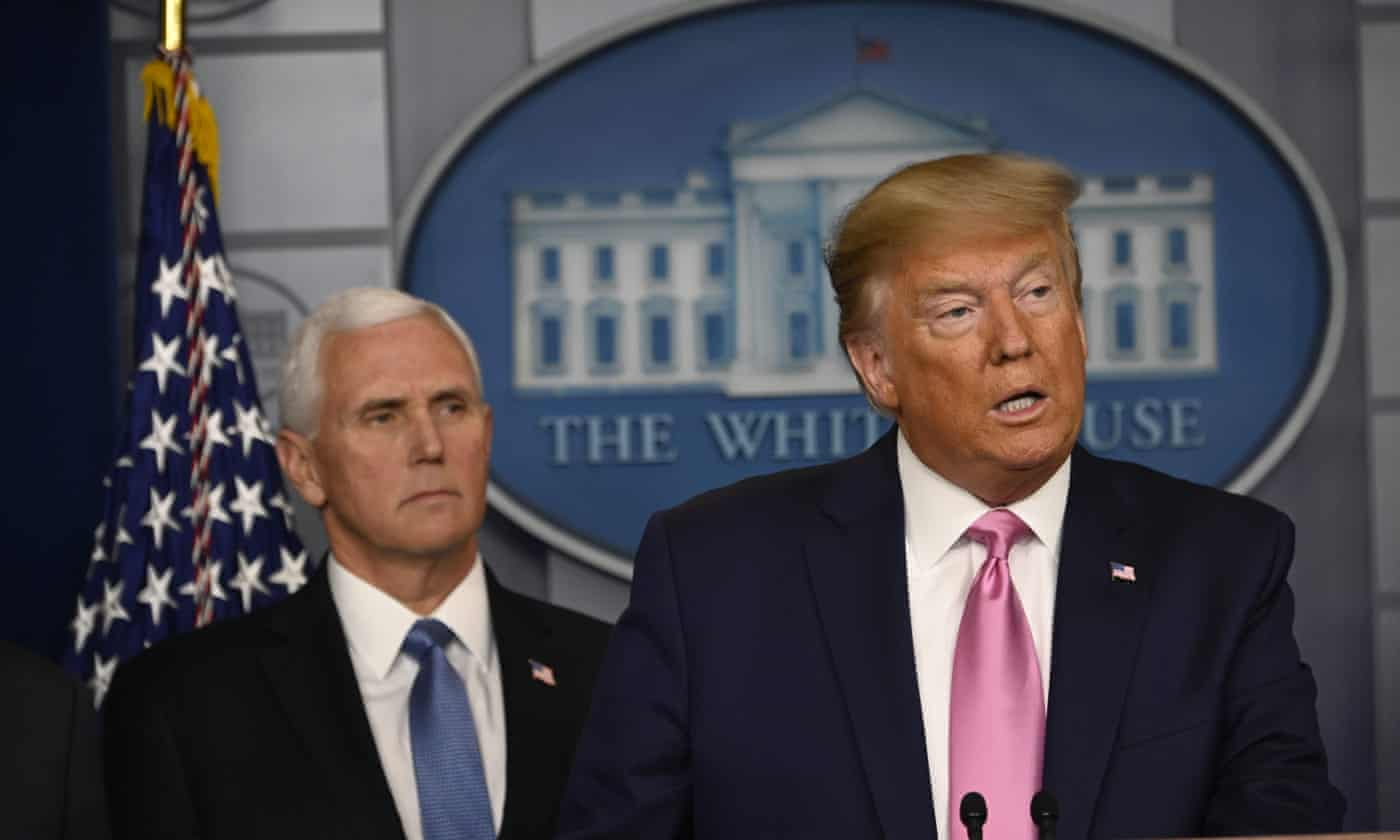 Trump puts Pence in charge of US virus response – as it happened