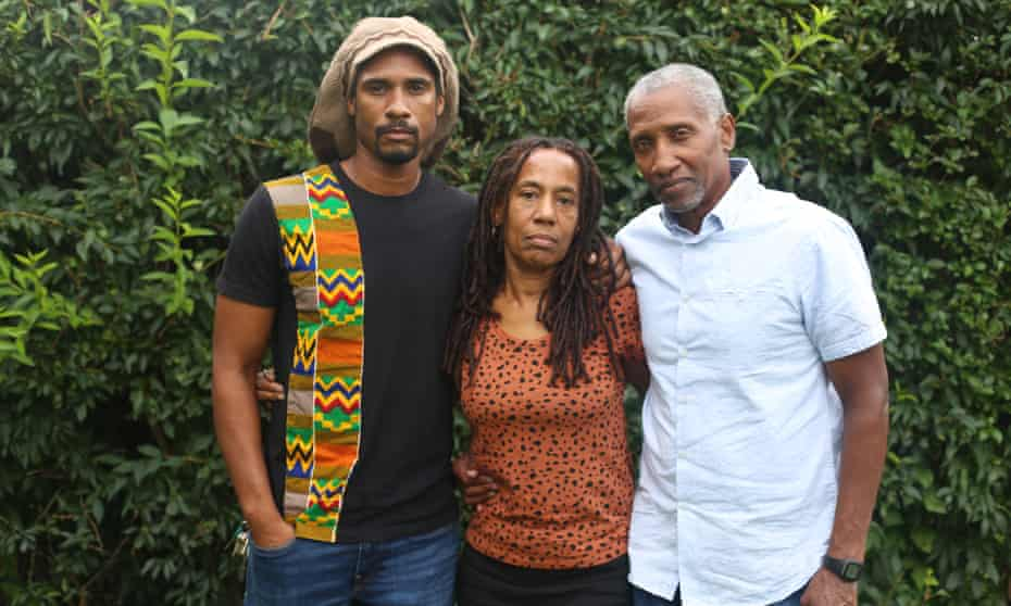 Debbie Davis said her separation from MOVE has 'been coming a long time'. She is pictured here with her son Mike Africa Jr and husband Mike Davis Sr.