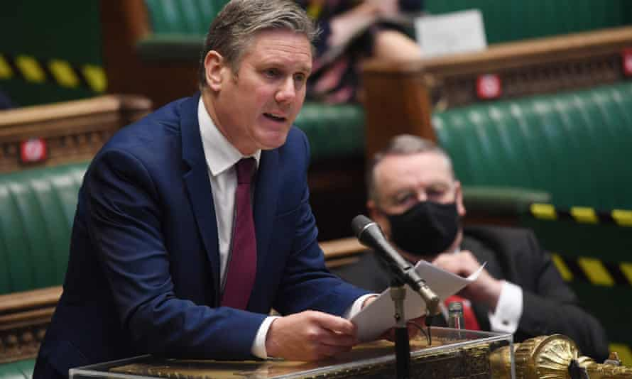 Keir Starmer questioning Boris Johnson in the Commons last Wednesday.
