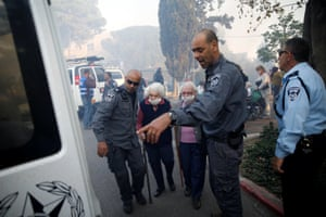 Police and elderly people