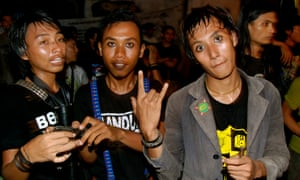 Punks at a gig in Indonesia