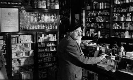 Woman in chemist's