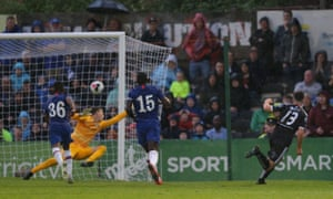 Eric Molloy scores a late equaliser for Bohemian.