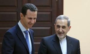 Bashar al-Assad and Ali Akbar Velayati