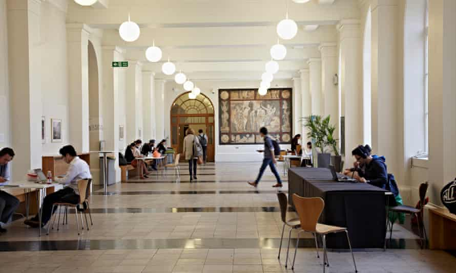 Inside UCL's main building.