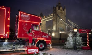 The former Hear'Say singer Myleene Klass helps launch Coca-Cola's promotional Christmas tour in front of London's Tower Bridge earlier this month.