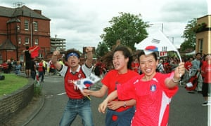 South Koreans in New Malden celebrate a victory in the 2002 World Cup.
