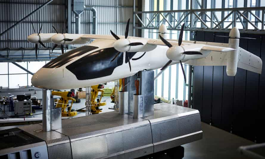 Looking at an eVTOL (electric vertical takeoff and landing) aircraft with Dr Tim Mackley at Cranfield University.