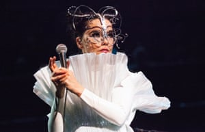 'Even in her undoing, she seems to retain a heroically geekish capacity for awe': Björk at the Royal Albert Hall.