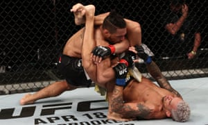 Charles Oliveira and Kevin Lee