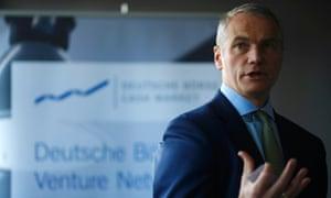 Deutsche Börse chief Carsten Kengeter