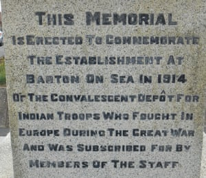 The English inscription on the obelisk in Barton.