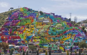 The huge mural is part of a government-sponsored project called Pachuca Paints Itself