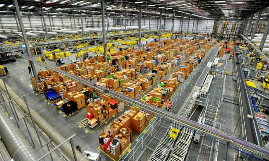 Amazon dispatch centre in Hemel Hempstead, Hertfordshire