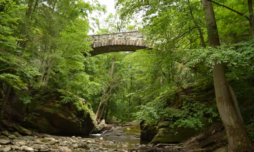 Devil's Pool – a basin where the Wissahickon and Cresheim creeks meet in Philadelphia's Wissahickon Valley park.