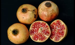 Pomegranates: lots of antioxidants in the peel, which is inedible.