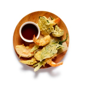 Serve the tempura hot and crisp, with the bowl of the sauce alongside for dipping.