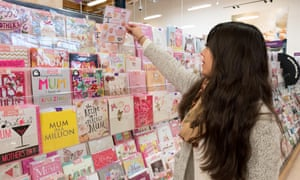 Mum's the word … 85% of cards are bought by women.