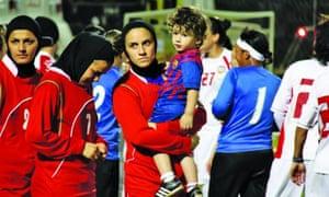 Niloufar Ardalan, the captain of the Iranian women's futsal team.
