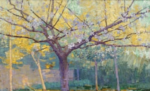 The garden, Longpré-les-Corps-Saints (1887), by John Russell In the 1880s and 90s, Russell was faithful to the pure French impressionist style.