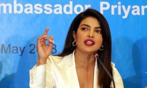 Priyanka Chopra in her role as a Unicef goodwill ambassador