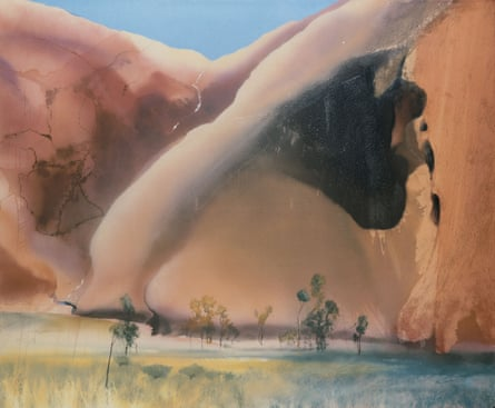 'Melting in the heat' … Permanent Water Mutidjula, by the Kunia Massif, 1985, by Michael Andrews.