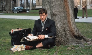 Russell Crowe as John Forbes Nash Jr in A Beautiful Mind