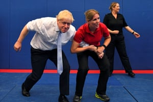 Reading, UKThe Conservative party leadership candidate Boris Johnson visits the Thames Valley police training centre while on his campaign trail