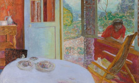 A detail from Pierre Bonnard's Dining Room in the Country (1913).