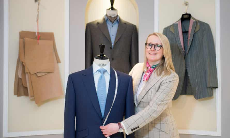 Master tailor Kathryn Sargent in her Savile Row store
