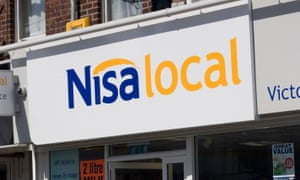 A Nisa local store sign