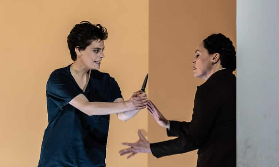 Emily D'Angelo, left, as Sesto and Nicole Chevalier as Vitellia in La clemenza di Tito at the Royal Opera House.